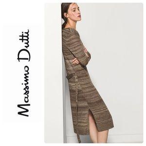 Massimo Dutti Sweater Dress with Side Slits